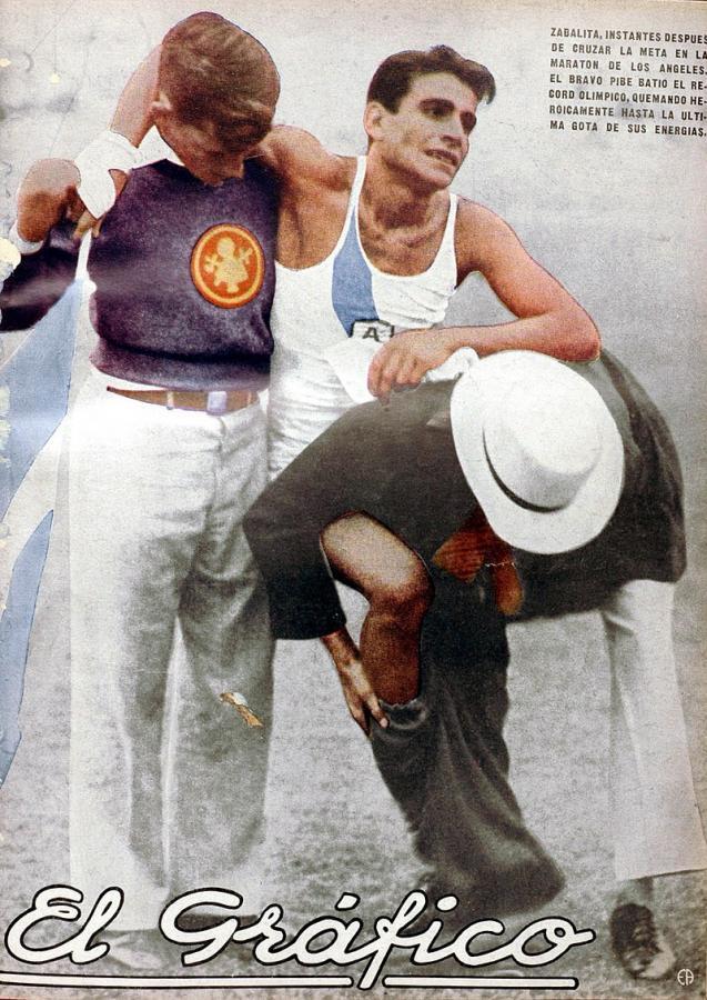 Tapa de El Gráfico cuando Zabala obtuvo el oro olímpico, edición nro 685