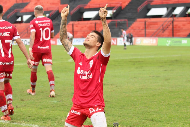 Pablo Oro y su emoción en el grito de gol (@CAHuracan)