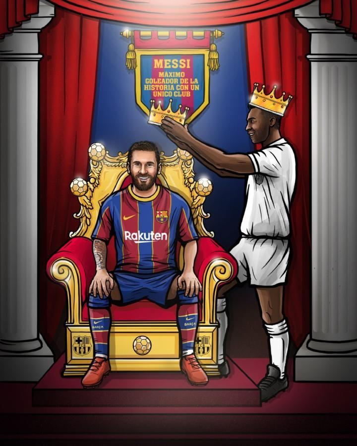 De O´Rei para Messi, dos leyendas con 643 goles
