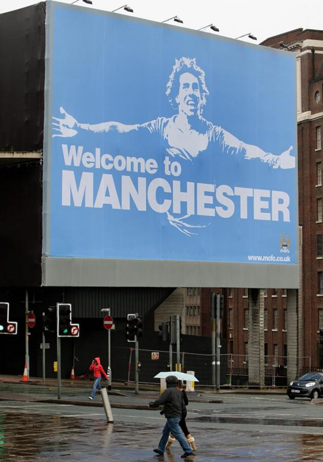 """La bienvenida de los """"Citizens"""" después de dejar el United."""