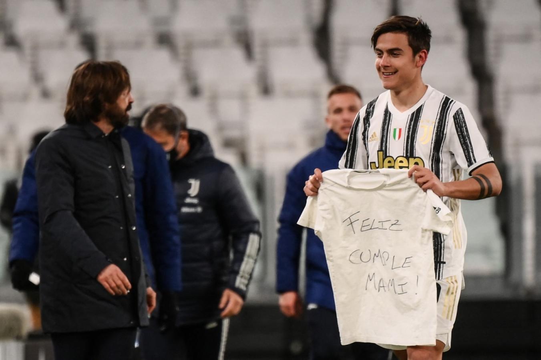 Dybala le dedicó el gol a su madre, que cumplió años. Foto: Marco Bertorello (AFP)