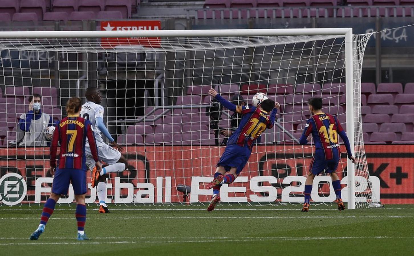 Messi convirtió su gol número 643 con la camiseta de Barcelona
