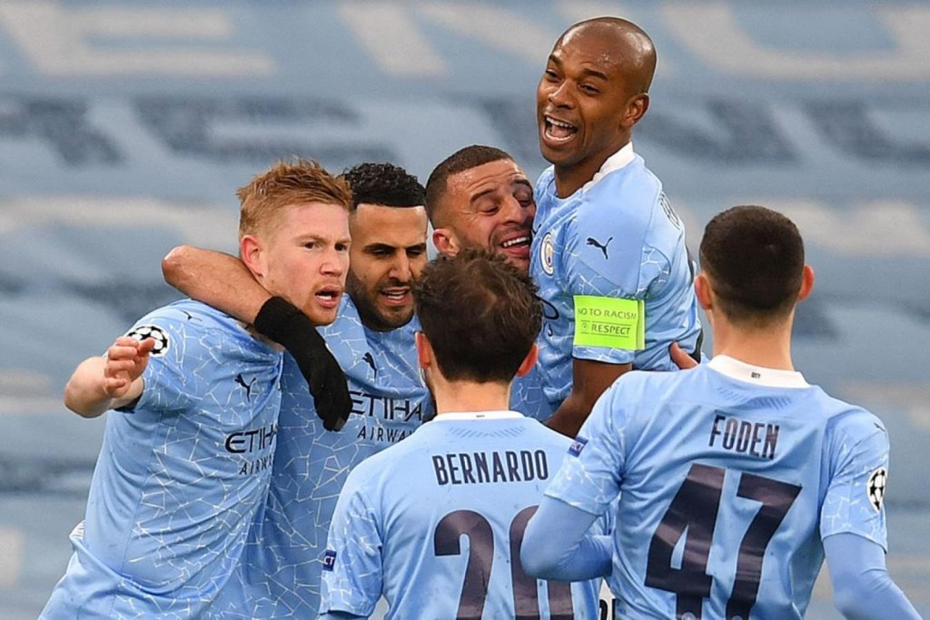 La alegría es solo ciudadana. El City alcanzó su primera final de Champions de la historia. Foto: @ChampionsLeague