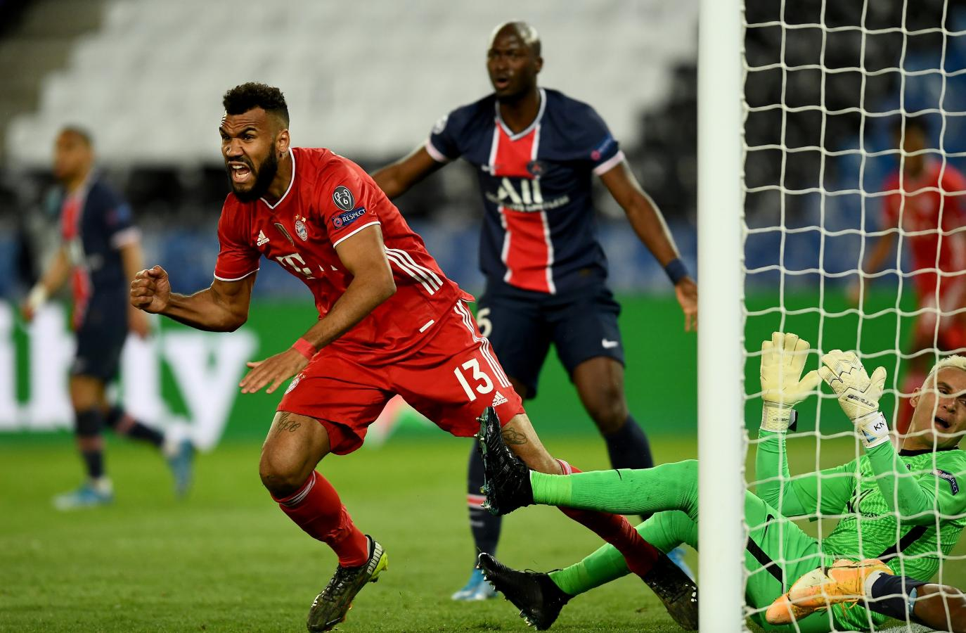 Al igual que en la ida, Choupo-Moting mantuvo con vida al Bayern. El delantero, cuyo pase pertenece al PSG, marcó el único tanto del partido. Foto: @ChampionsLeague