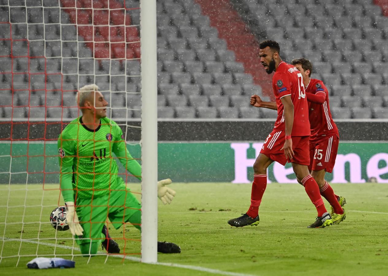 Choupo-Moting marcó de cabeza el descuento del elenco bávaro. Foto: @ChampionsLeague