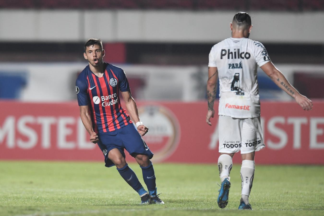 Ángel Romero marcó el tanto del descuento. San Lorenzo tardó 70 minutos para meterse en el partido. Foto: @Libertadores