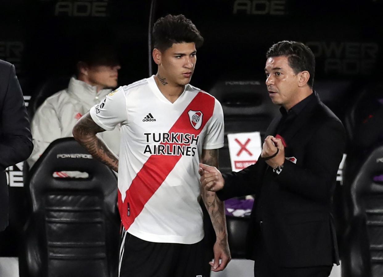 Carrascal aguarda su chance para ser titular. De ello depende el estado físico de Nicolás De la Cruz. Foto: Alejandro Pagni (AFP)
