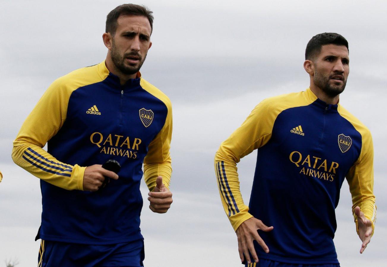 Carlos Izquierdoz y Lisandro López serán titulares vs. Talleres (Foto: Boca Juniors)