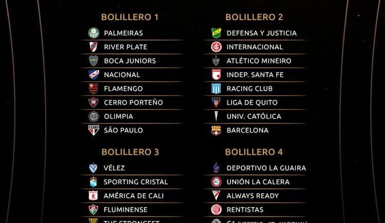 Imagen de CONMEBOL OFICIALIZÓ LOS BOMBOS DE LA LIBERTADORES